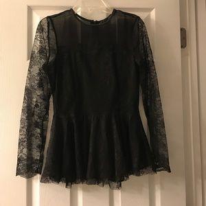 Zara Lace Peplum Top